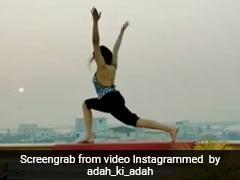 अदा शर्मा का Video हुआ वायरल,  छत की मुंडेर पर करने लगीं योग