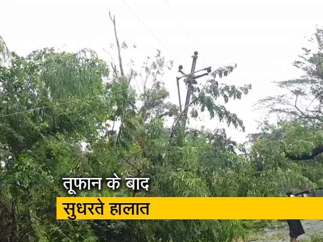 Videos : 'निसर्ग' से पेड़ गिरे, बिजली के तार टूटे