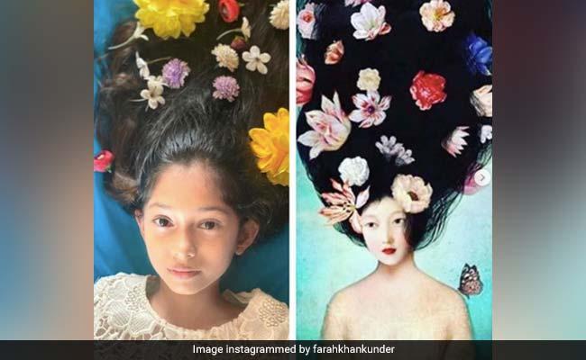 Trending: Farah Khan's Daughters Diva And Anya Recreate Vintage Paintings