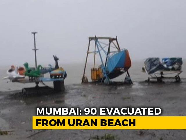 Video : 90 People Evacuated From Coastal Areas In Navi Mumbai's Uran