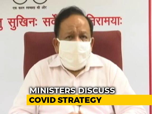 "Video : ""85% Cases, 87% Deaths From 8 States"": Harsh Vardhan At COVID-19 Meeting"