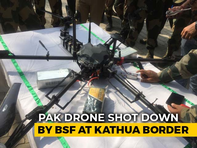 Video: Pak Drone On Mission To Drop Weapons For Terrorists Shot Down In J&K