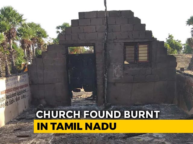 Video : 10-Year-Old Tamil Nadu Church Found Burnt, Cause Of Fire Not Clear