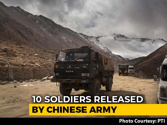 Video : 10 Soldiers Including 4 Officers Released By Chinese Army After Talks