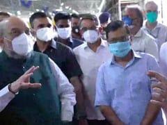 Arvind Kejriwal, Amit Shah Visit Biggest COVID-19 Centre In Delhi