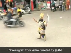 Man Dresses As Yamraj To Raise Awareness About COVID-19 In J&K's Udhampur