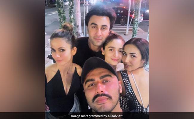 Throwback: Alia Bhatt, Ranbir Kapoor, Malaika Arora, Arjun Kapoor In A Pic From New York