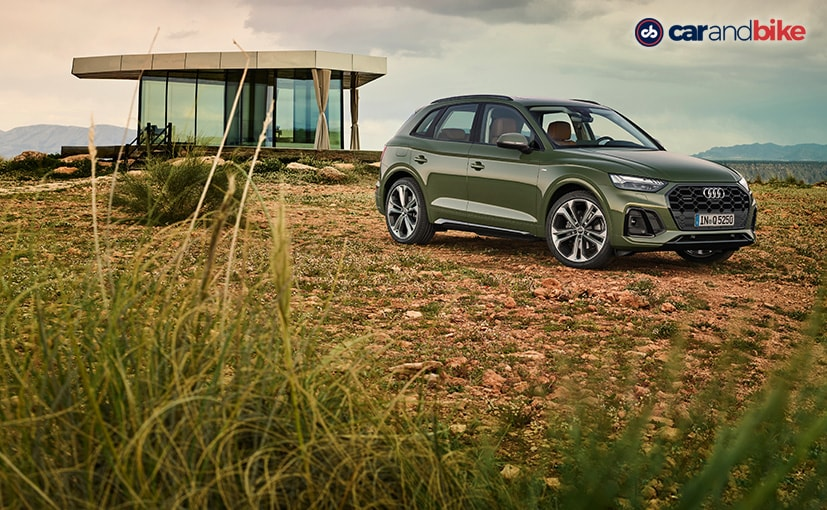 The Q5 that you see here is draped in what Audi calls, the district green colour
