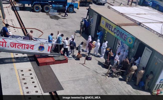 INS Jalashwa Brings Home Nearly 700 Stranded Indians From Sri Lanka