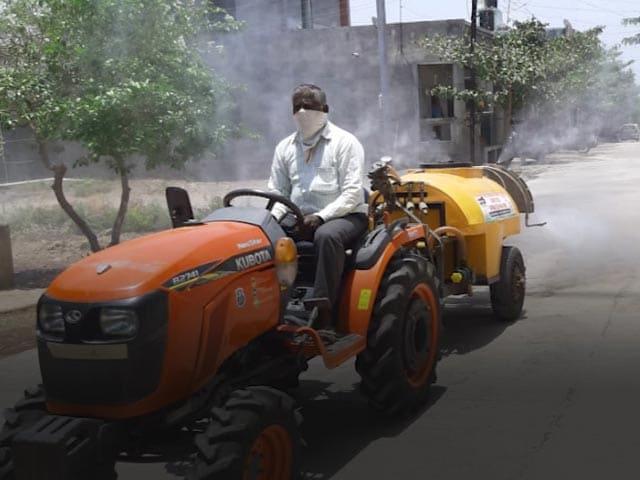 Video : Maharashtra Farmer Wins Praise From PM For Disinfectant-Spray Machine