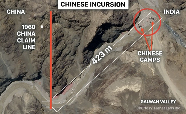 China Has Intruded 423 Metres Into Indian Territory In The Galwan Valley