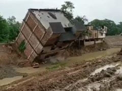 On Camera, Three-Storey Building Falls Into Canal In West Bengal
