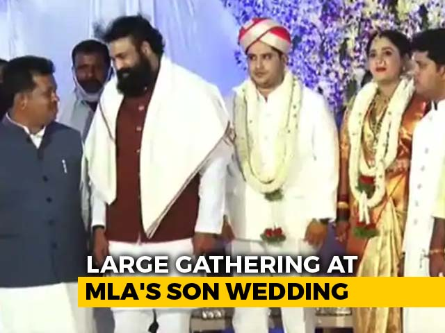 Video : Karnataka MLA's Son Weds, Health Minister Present, No Social Distancing