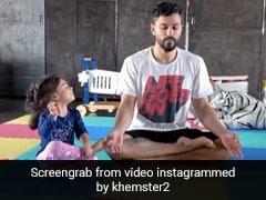 इनाया खेमू ने पापा कुणाल खेमू के साथ की विश्व योग दिवस की तैयारी, क्यूट अंदाज में योग सीखती आईं नजर- देखें Video