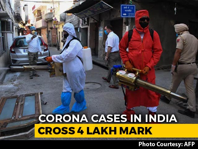 Video : Record Coronavirus Cases For 4th Day, Total Crosses 4 Lakh