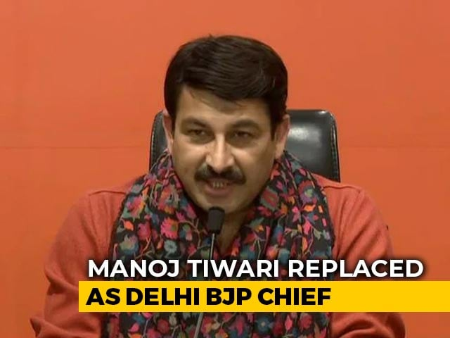 Video : Manoj Tiwari Replaced As Delhi BJP President