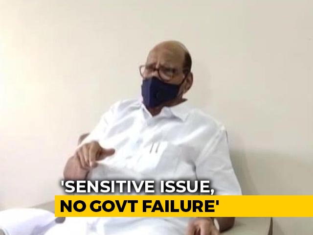 "Video : Ladakh Episode ""Sensitive"" In Nature, Not Centre's Failure: Sharad Pawar"