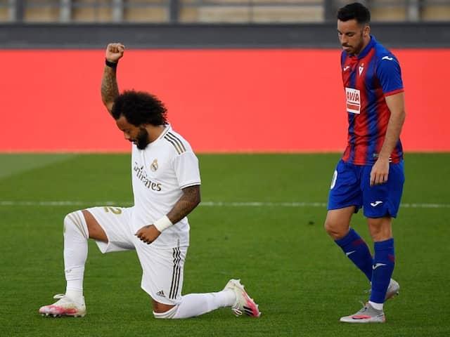 La Liga: Marcelo Takes Knee As Real Madrid Return With Win Over Eibar