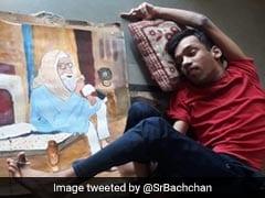 युवा दिव्यांग फैन ने पैरों से बनाई अमिताभ बच्चन की पेंटिंग, बिग बी बोले-उनकी प्रतिभा को आशीर्वाद, देखें Photo