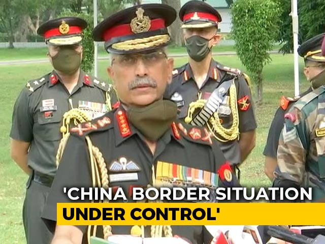 "Video : ""Entire Situation Along Border With China Under Control"": Army Chief"