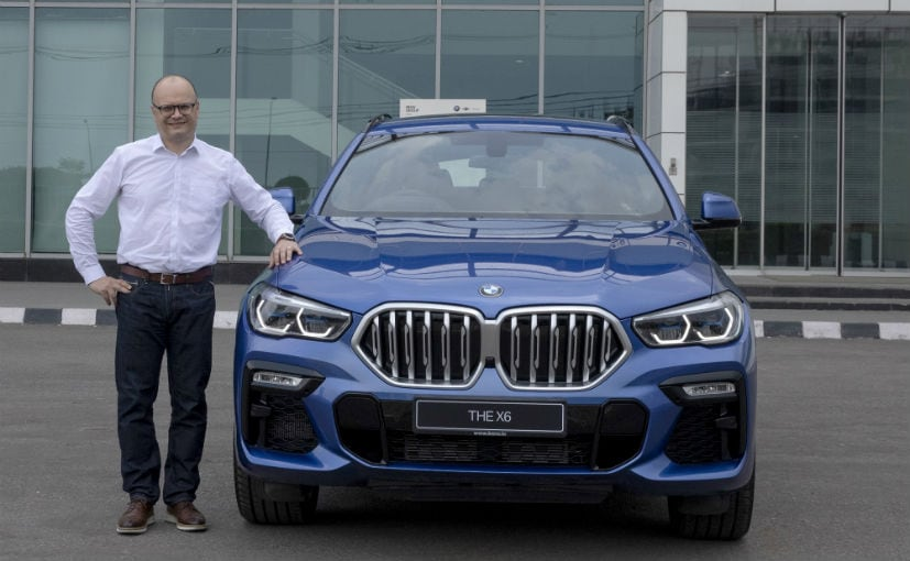 Arlindo Teixeira, acting President, BMW Group India with the new-generation BMW X6