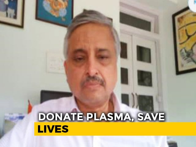 Video : Number Of Plasma Donors Has Reduced, AIIMS Delhi Director Tells NDTV