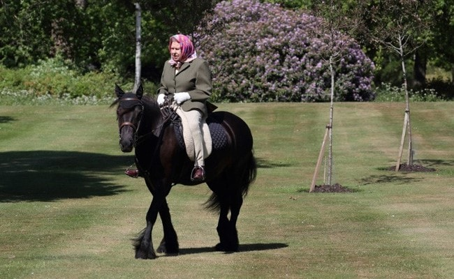 Queen Elizabeth Enjoys Horse Ride As Britain Eases Coronavirus Lockdown