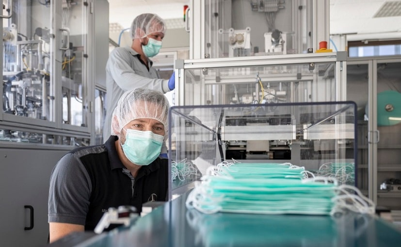 Mercedes-Benz Starts Production Of Masks At Sindelfingen Plant
