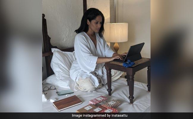 Masaba Gupta's Work From Home Pic - Captured By Rumoured Boyfriend Satyadeep Misra