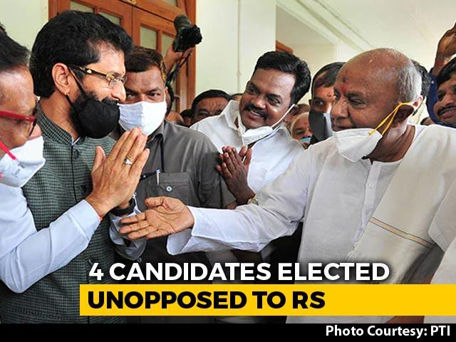 Video : With HD Deve Gowda, Others, Karnataka Fills 4 Rajya Sabha Seats Unopposed