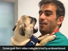 कुत्ते को गोद में लेकर प्यार कर रहा था शख्स, जैसे ही किया Kiss तो ऐसे मारा झपट्टा... देखें Viral Video