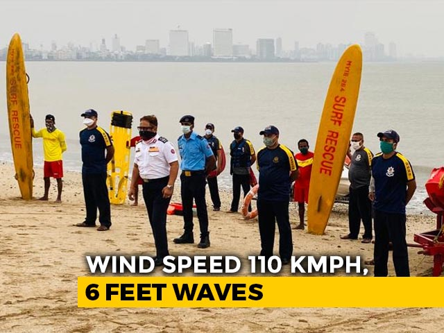 Video : Cyclone Nisarga 60 km From Alibaug Near Mumbai, 120 kmph Winds Likely