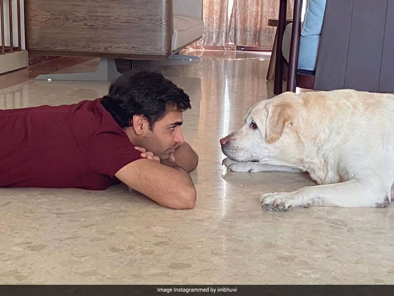 """""""Buddies For Life"""": Bhuvneshwar Kumar Shares Adorable Pictures With His Dog"""