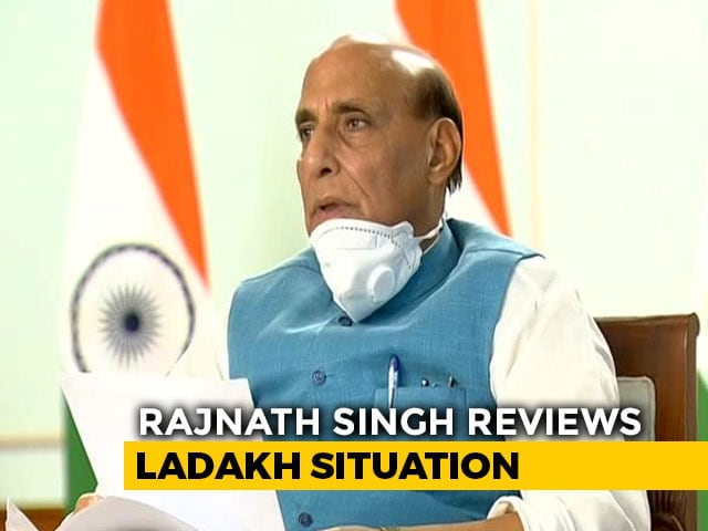 Video : Day Before Moscow Visit, Rajnath Singh Reviews China Border Situation