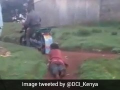 Woman Dragged Behind Bike By Kenya Cops For Alleged Theft, 3 Arrested