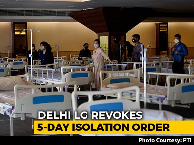 Video : 5-Day Mandatory Institutional Quarantine Order In Delhi Withdrawn