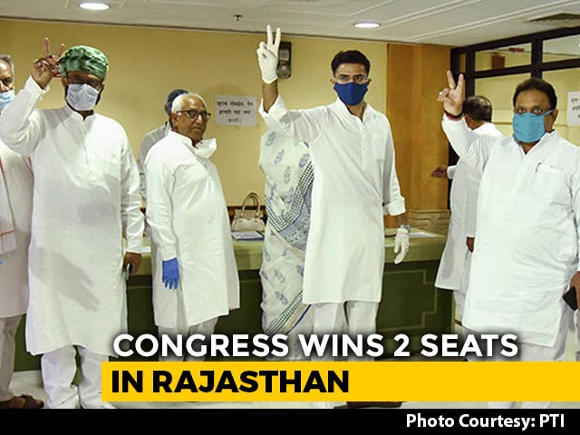 Video : Rajya Sabha Polls: BJP-Congress 2-1 In Madhya Pradesh, 1-2 In Rajasthan