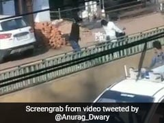 On Camera, Chhattisgarh Cop Hits People With Stick For Violating Lockdown Rules