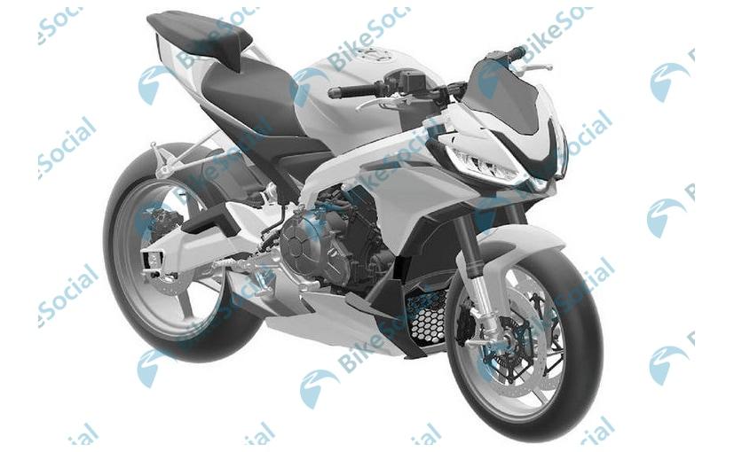 Patent images reveal the Aprilia Tuono 660 design