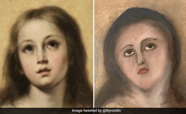 This Virgin Mary Painting Was 'Restored' So Terribly, It Became A Meme