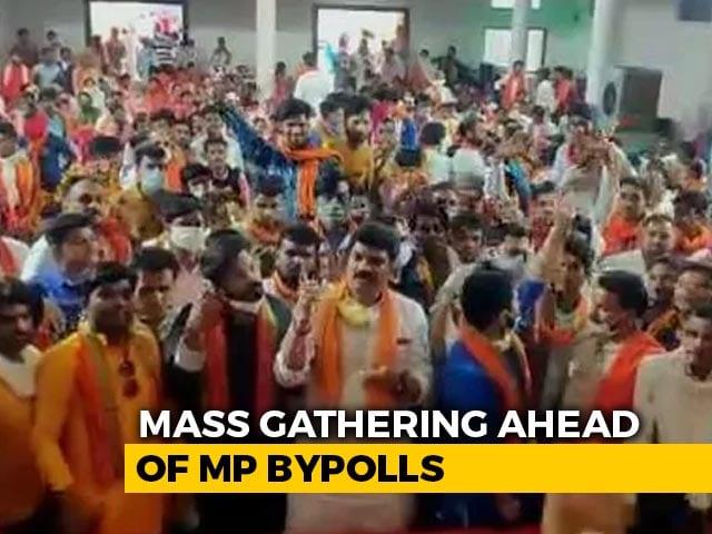Video : On Camera, Madhya Pradesh Minister Violates Social Distancing