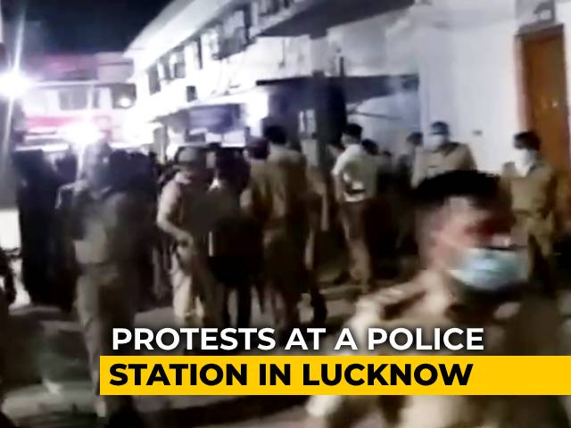 Video: Late-Night Protests Over Arrest Of UP Congress Leader In Lucknow