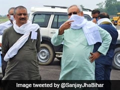 Nitish Kumar Inspects Darbhanga Airport Construction Site, Urges Airports' Body To Expedite Work