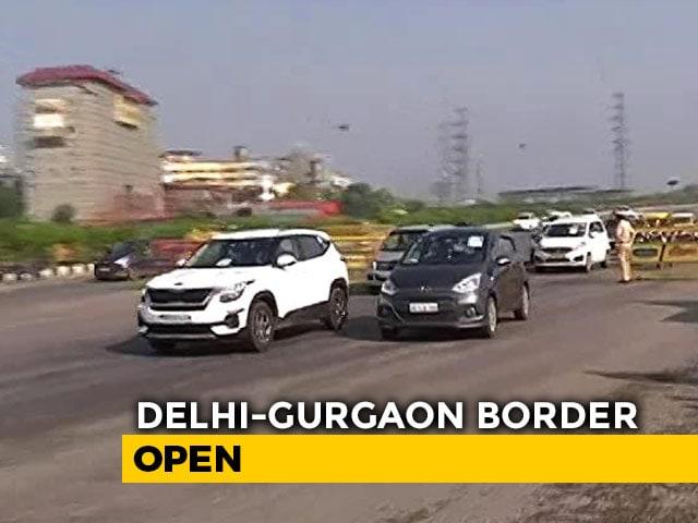 Video : Haryana Opens Delhi-Gurgaon Border After Centre's New Lockdown Guidelines