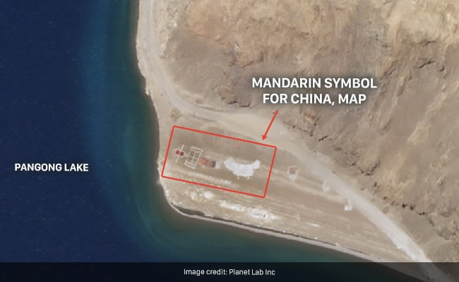 Chinese Inscribe Huge Symbol, Map Onto Disputed Territory In Pangong