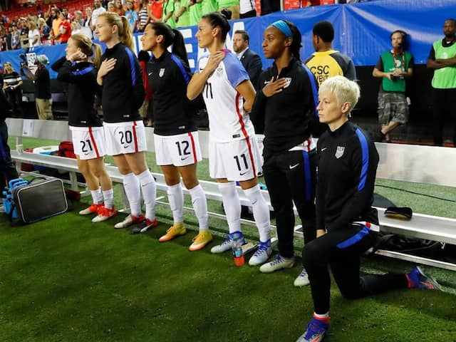 US Soccer Federation To Review Ban On Kneeling During National Anthem