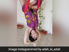 अदा शर्मा ने यूं उल्टा लटककर किया योगा, बार-बार देखा जा रहा Video
