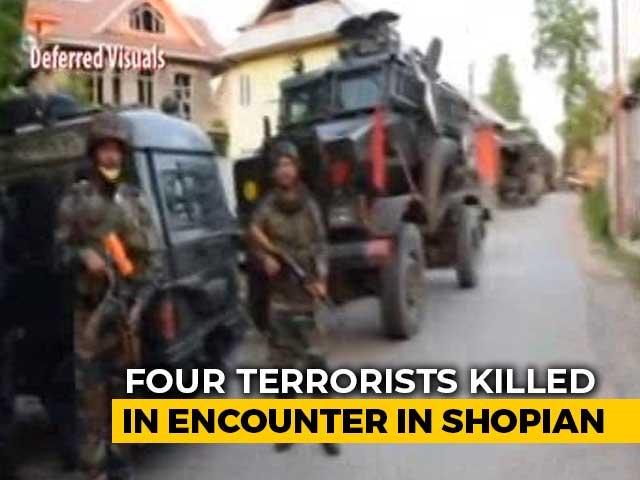 Video : Four Terrorists Killed In Encounter In J&K's Shopian, 9 In 24 Hours