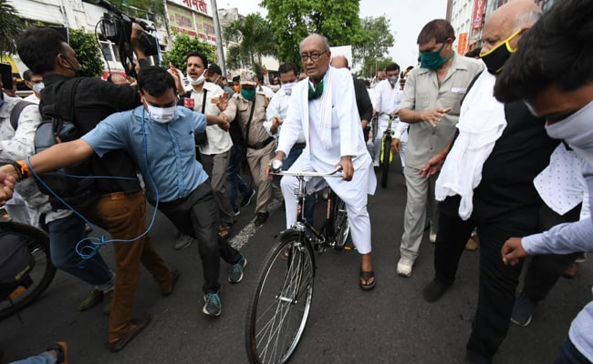 Case Against Digvijaya Singh After Cycle Protest Over Fuel Price Hike