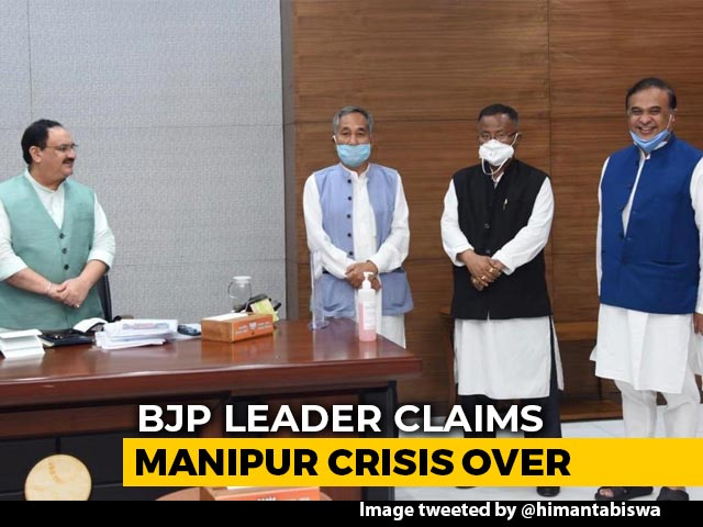 Video : BJP Says Manipur Crisis Over After 4 MLAs Of Upset Ally Meet Amit Shah